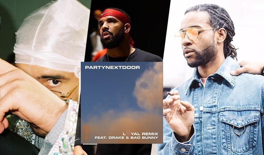 """PARTYNEXTDOOR lança remix do single """"Loyal"""" com Drake e Bad Bunny; ouça"""