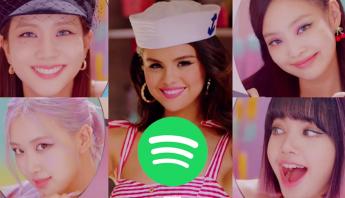 """Com """"Ice Cream"""", BLACKPINK e Selena Gomez debutam no top 5 do Spotify Global"""