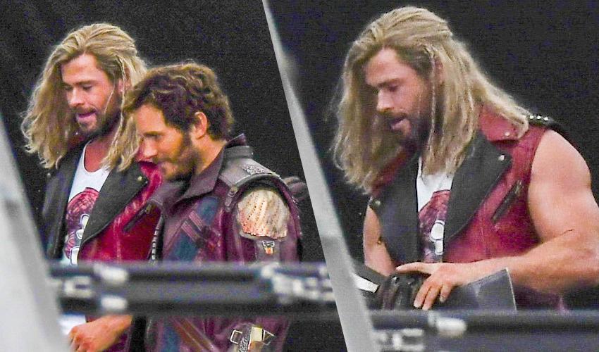 """Imagens das gravações de """"Thor: Amor e Trovão"""" vazam na internet"""