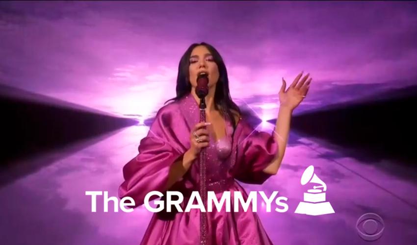 """Dua Lipa incendeia o palco do Grammy com """"Levitating"""" e """"Don't Start Now""""; assista"""