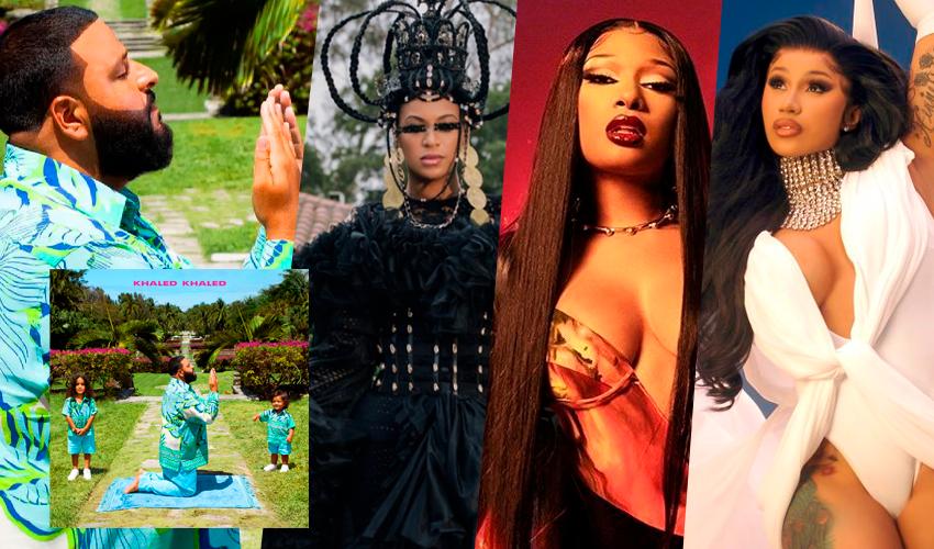 """Com Beyoncé, Cardi B, Megan Thee Stallion e mais, DJ Khaled lança seu novo álbum, """"Khaled Khaled""""; ouça"""