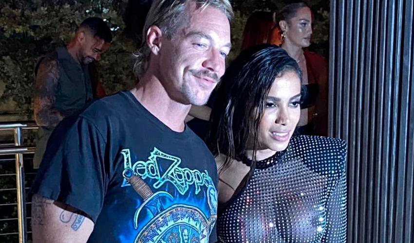 """Anitta e Diplo se acabam ao som do funk brasileiro em festa de lançamento de """"Girl From Rio"""" em Miami"""