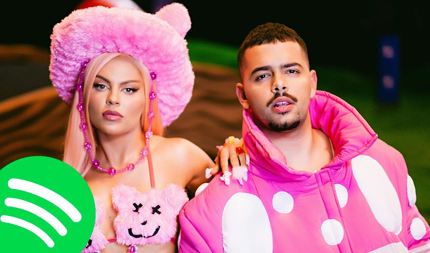 """""""Atenção"""" de Pedro Sampaio e Luísa Sonza invade o top 15 do Spotify BR; veja números"""