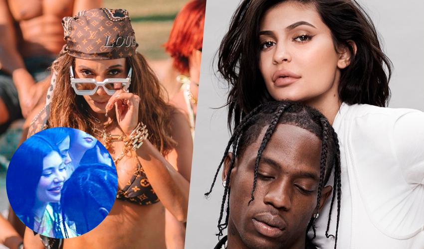 Anitta curte noitada em Miami ao lado de Kylie Jenner e Travis Scott
