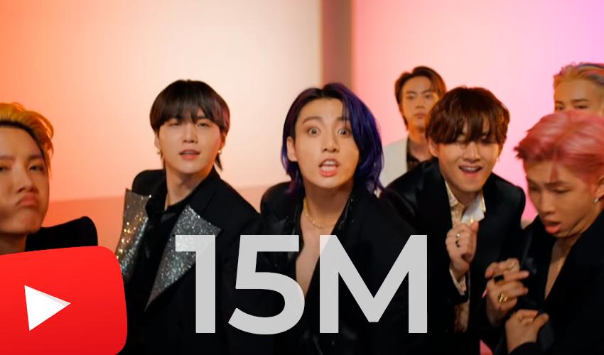 """BTS quebra próprio recorde no YouTube com """"Butter"""", em menos de 40 minutos de estreia"""
