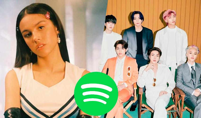 """Olivia Rodrigo segura o BTS e faz mais de 12 MILHÕES DE STREAMS com """"good 4 u"""" no Spotify em apenas um dia"""