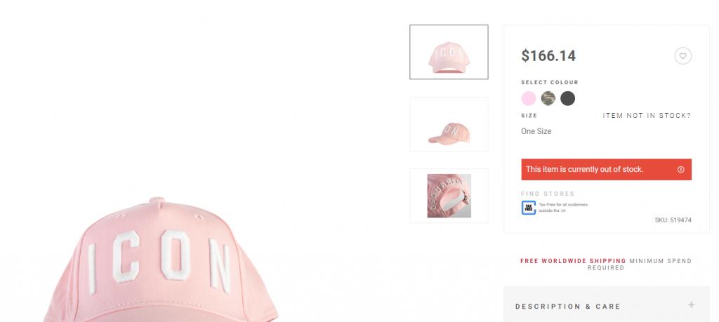 Loja esgota boné utilizado por Nicki Minaj em minutos, após a rapper publicar novas fotos