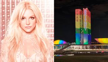 """No dia do Orgulho LGBTQIA+ Congresso Nacional ganha cores da bandeira e adere movimento """"FREE BRITNEY"""""""