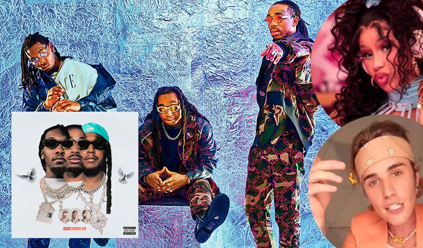 """Com Cardi B, Drake e Justin Bieber, Migos lança seu novo álbum, """"Culture III""""; ouça"""