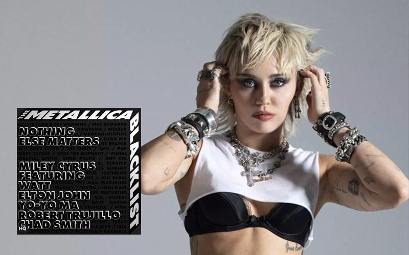 """Miley Cyrus se junta com lendas da música e lança cover do Metallica; ouça """"Nothing Else Matters"""""""