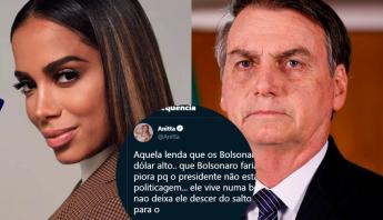 """Anitta detona Bolsonaro: """"Egocentrismo que não deixa ele descer do salto da opinião de bosta dele"""""""