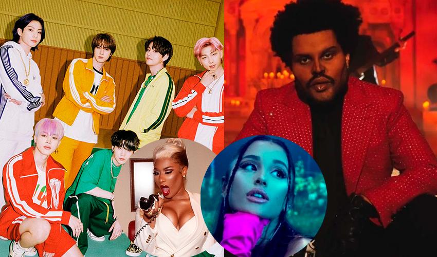 BTS e Megan Thee Stallion quebram recorde de The Weeknd e Ariana Grande no Spotify