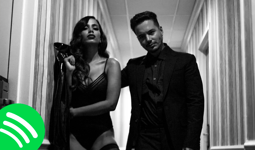 """Pelo terceiro dia consecutivo, Anitta e J Balvin quebram recorde com """"Downtown"""" no Spotify; veja números"""