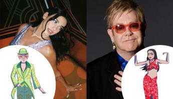 """Dua Lipa e Elton John liberam teaser de """"Cold Heart"""", com lançamento marcado para sexta-feira (13)"""