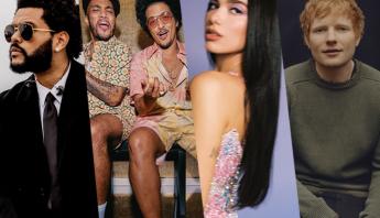 Confira quais foram as músicas e artistas internacionais mais tocados das rádios brasileiras em julho