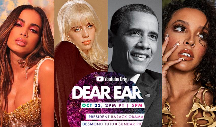 Billie Eilish, Anitta, Barack Obama, Tinashe e diversos outros  são confirmados em especial do YouTube