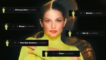 Juliette emplaca todo o seu EP no top 15 do Spotify Brasil; veja números