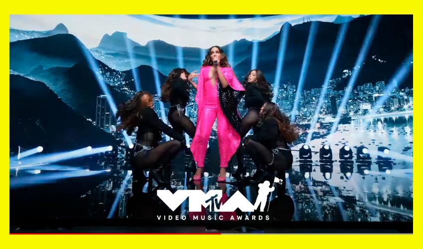 Anitta consagra sua carreira internacional com performance inesquecível no VMA 2021; assista