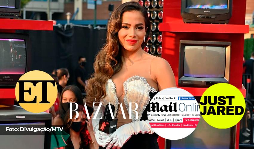 """Imprensa internacional aclama vestido utilizado por Anitta no VMAs 2021: """"Canalizou o glamour da velha Hollywood"""""""